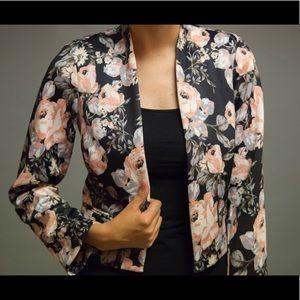 Thin floral print blazer ASOS